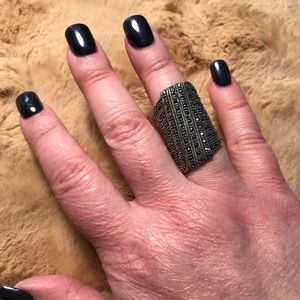 Sterling Silver and Marcasite Bohemian Ring (7)